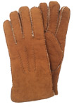 Ladies Sueded Sheepskin Glove Camel