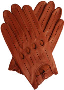 Mens Leather Unlined Driving Glove Tan