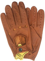Mens Unlined Leather Driving Glove with