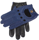 Dents Mens Two Tone Driving Glove Royal
