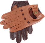 Dents Mens Two Tone Driving Glove Cognac
