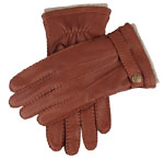Dents Mens Deerskin Leather Cashmere Lin