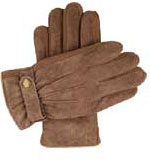 Dents Mens Warm Suede Gloves Oatmeal