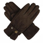 Dents Ladies Suede Glove Mocca