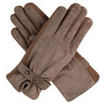 Dents Ladies Suede Glove Oatmeal