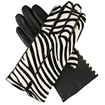 Dents Ladies Zebra Print Leather Glove B