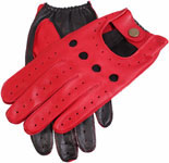 Dents Mens Two Tone Driving Glove Berry