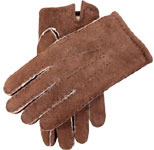 Dents Mens Hand Sewn Lambskin Glove Maho