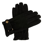 Dents Mens Nubuck Leather Glove with Che