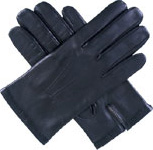 Dents Mens Silk Lined Leather Glove Blac