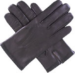Dents Mens Silk Lined Leather Glove Brow