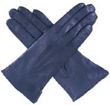 Dents Ladies Warm Leather Glove Navy