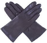 Dents Ladies Leather Glove with Silk Lin