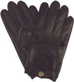 Southcombe Mens Leather Driving Glove Bl
