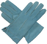 Southcombe Ladies Suede Glove Baby Blue