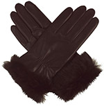 Southcombe Ladies Leather Glove with Fur